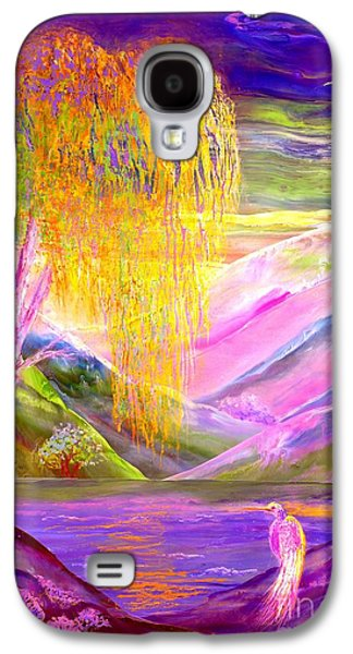 Silent Waters, Silver Birch And Egret Galaxy S4 Case