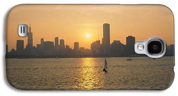 Silhouette Of Skyscrapers Galaxy S4 Case
