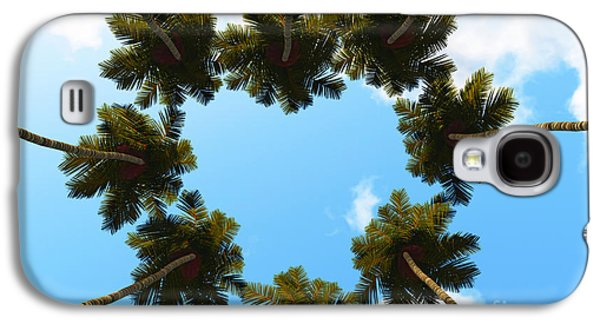 Silhouette Palms View Up Galaxy S4 Case by Aleksey Tugolukov