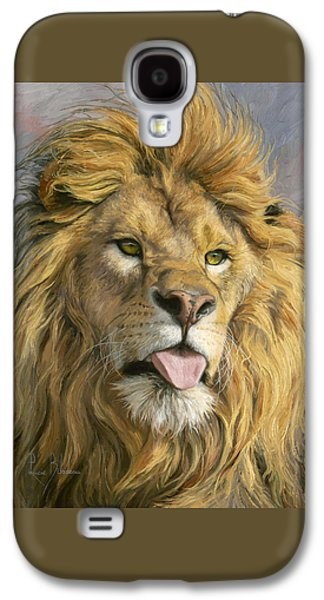 Lion Galaxy S4 Case - Silly Face by Lucie Bilodeau