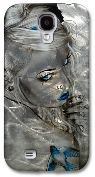 Swallow Galaxy S4 Case - Silver Flight by Christian Chapman Art