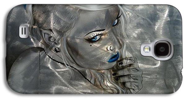 Portrait - ' Silver Flight ' Galaxy S4 Case by Christian Chapman Art
