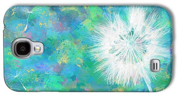 Silverpuff Dandelion Wish Galaxy S4 Case by Nikki Marie Smith