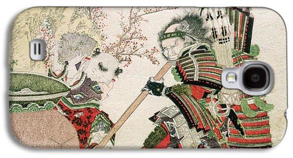 Sima Wengong And Shinozuka, Lord Of Iga Galaxy S4 Case by Katsushika Hokusai