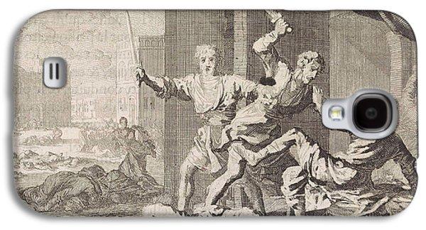 Simeon And Levi Kill The Shechemites, Jan Luyken Galaxy S4 Case