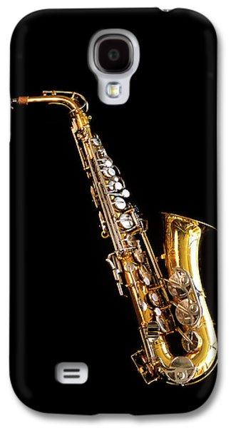 Single Saxophone Against Black Galaxy S4 Case