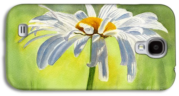 Daisy Galaxy S4 Case - Single White Daisy Blossom by Sharon Freeman