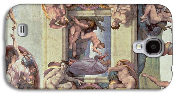 Sistine Chapel Ceiling 1508-12 The Creation Of Eve, 1510 Fresco Post Restoration Galaxy S4 Case
