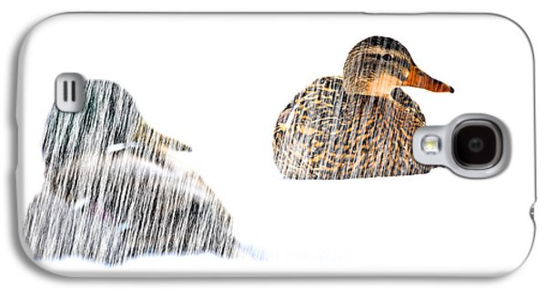 Sitting Ducks In A Blizzard Galaxy S4 Case by Bob Orsillo