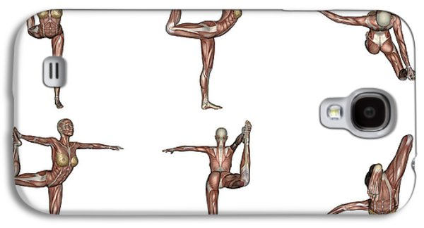 Six Different Views Of Dancer Yoga Pose Galaxy S4 Case