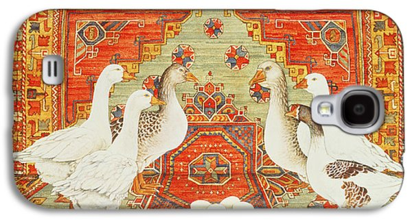 Six Geese A-laying Galaxy S4 Case by Ditz