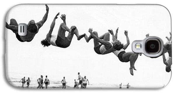 Six Men Doing Beach Flips Galaxy S4 Case