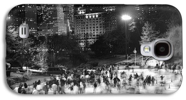 New York City - Skating Rink - Monochrome Galaxy S4 Case
