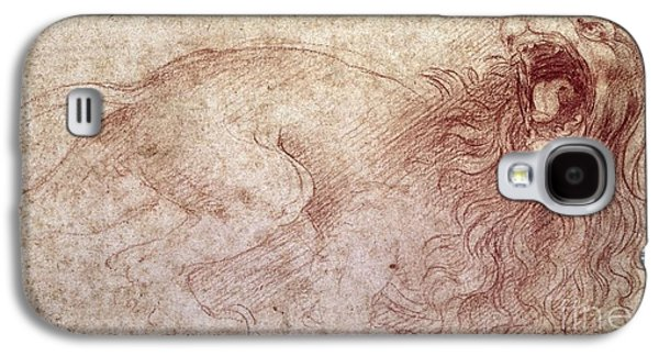 Sketch Of A Roaring Lion Galaxy S4 Case