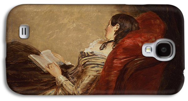 Sketch Of The Artists Wife Asleep Galaxy S4 Case by William Powell Frith