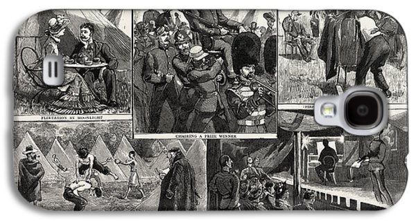 Sketches At The Volunteer Camp, Wimbledon, Engraving 1884 Galaxy S4 Case