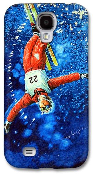 Skier Iphone Case Galaxy S4 Case by Hanne Lore Koehler