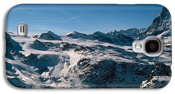 Skiers On Mountains In Winter Galaxy S4 Case by Panoramic Images