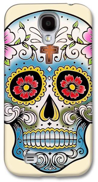 Skull 10 Galaxy S4 Case by Mark Ashkenazi