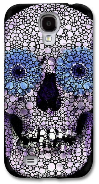 Skull Art - Day Of The Dead 2 Stone Rock'd Galaxy S4 Case by Sharon Cummings