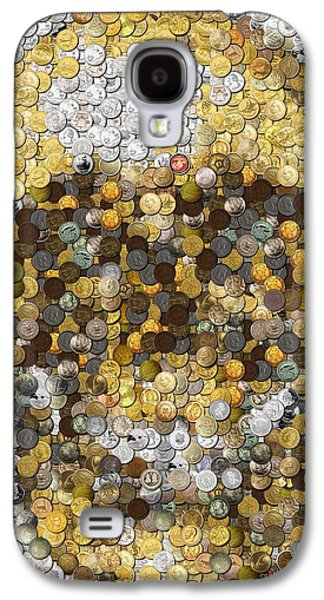 Skull Coins Mosaic Galaxy S4 Case by Paul Van Scott