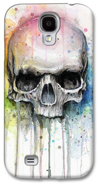 Skull Watercolor Painting Galaxy S4 Case