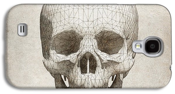 Skull Wireframe On Paper.  Galaxy S4 Case by Thanes