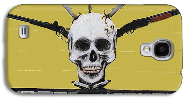 Skull With Guns Galaxy S4 Case by Bill Thomson