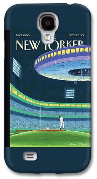 Yankee Stadium Galaxy S4 Case - Sky Box by Bruce McCall