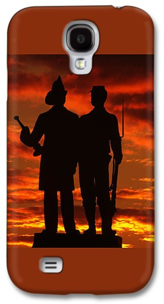 Sky Fire - 73rd Ny Infantry Fourth Excelsior Second Fire Zouaves-a1 Sunrise Autumn Gettysburg Galaxy S4 Case by Michael Mazaika