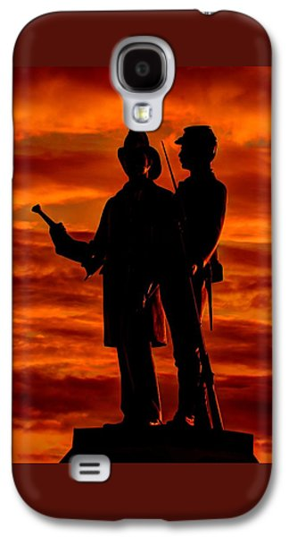 Sky Fire - 73rd Ny Infantry Fourth Excelsior Second Fire Zouaves-b1 Sunrise Autumn Gettysburg Galaxy S4 Case by Michael Mazaika