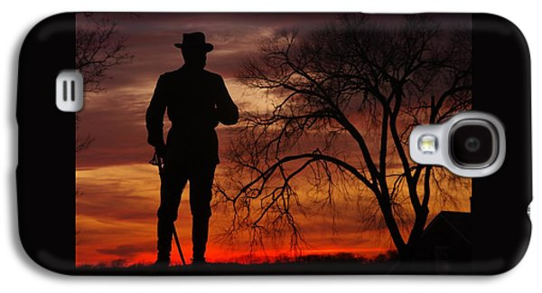 Sky Fire - Brigadier General John Buford - Commanding First Division Cavalry Corps Sunset Gettysburg Galaxy S4 Case by Michael Mazaika