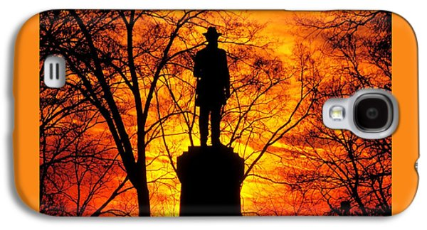 Sky Fire - Flames Of Battle 50th Pennsylvania Volunteer Infantry-a1 Sunset Antietam Galaxy S4 Case by Michael Mazaika