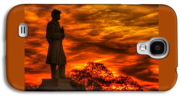 Sky Fire - West Virginia At Gettysburg - 7th Wv Volunteer Infantry Vigilance On East Cemetery Hill Galaxy S4 Case by Michael Mazaika