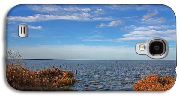 Galaxy S4 Case featuring the photograph Sky Water And Grasses by Nareeta Martin