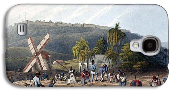 Slaves Planting Sugar Cane, 19th Century Galaxy S4 Case by British Library