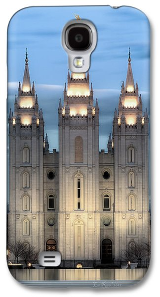 Slc Temple Blue Galaxy S4 Case by La Rae  Roberts