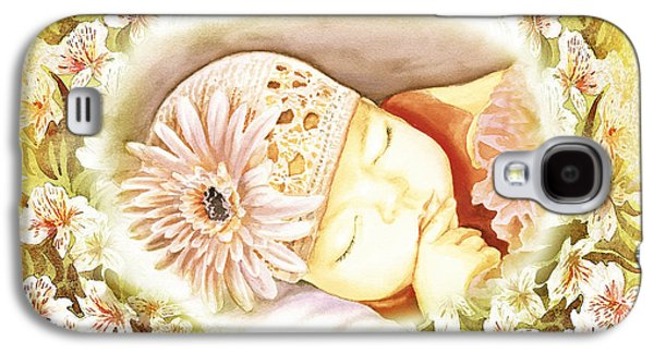 Sleeping Baby Vintage Dreams Galaxy S4 Case by Irina Sztukowski