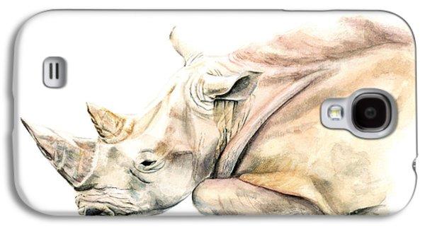 Small Colour Rhino Galaxy S4 Case by Elizabeth Lock