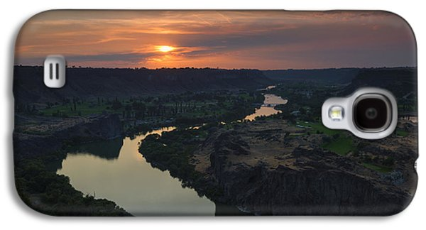 Snake River Sunset Galaxy S4 Case by Mike  Dawson