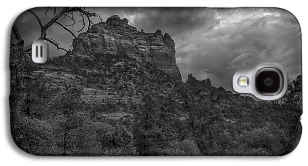 Snoopy Mountain In Black And White Galaxy S4 Case by Kelly Gibson