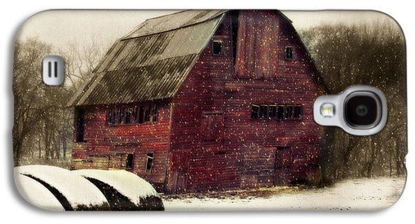 Snow Bales Galaxy S4 Case by Julie Hamilton