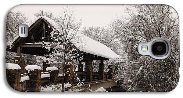 Snow Covered Bridge Galaxy S4 Case