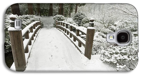 Snow-covered Moon Bridge, Portland Galaxy S4 Case by William Sutton