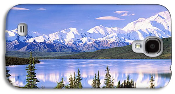 Snow Covered Mountains, Mountain Range Galaxy S4 Case by Panoramic Images
