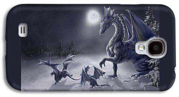 Dragon Galaxy S4 Case - Snow Day by Rob Carlos