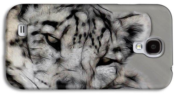 Snow Leopard Digital Art Galaxy S4 Case