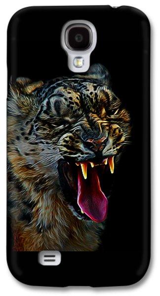 Snow Leopard Teeth Digital Art Galaxy S4 Case