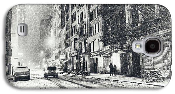 Snow - New York City - Winter Night Galaxy S4 Case