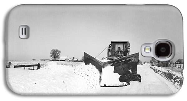 Snow Plow Clearing Roads Galaxy S4 Case by Underwood Archives
